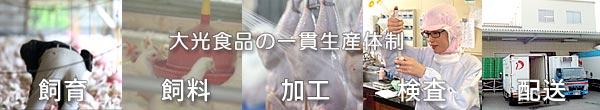 大光食品のブランド肉一貫生産体制